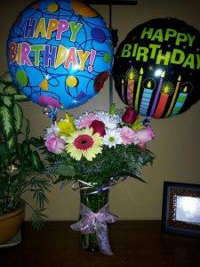 Birthday flowers. January 2012