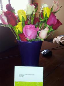 Flowers for getting straight A's Spring semester. May 2012.